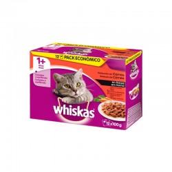 Whiskas 12Pack 1+ Seleccion Carnes 12X100Gr