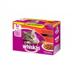 Whiskas 12Pack 1+ Seleccion Carnes 4X12X100Gr
