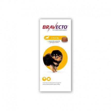 Bravecto 112,5Mg 1 Comp 2-4,5Kg XS Amarillo