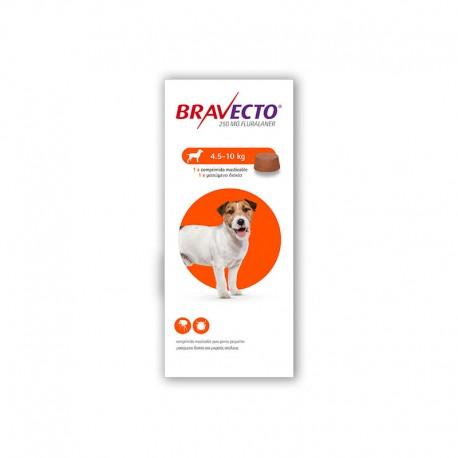 Bravecto 250Mg 1 Comp 4,5-10Kg S Naranja