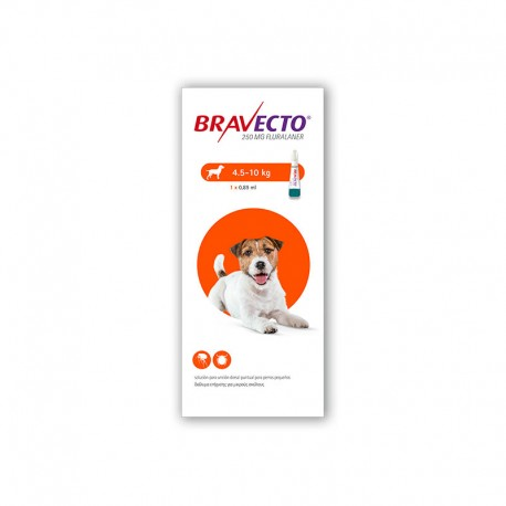 Bravecto Spot On 250Mg 1Pip 4,5-10Kg S Naranja