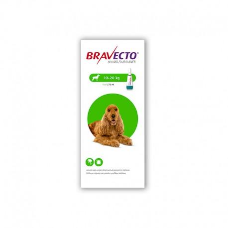Bravecto Spot On 500Mg 1Pip 10-20Kg M Verde