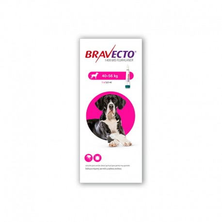 Bravecto Spot On 1400Mg 1Pip 40-56Kg XL Rosa