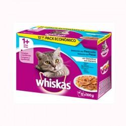Whiskas 12Pack 1+ Seleccion Pescado 4X12X100Gr