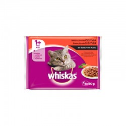 Whiskas 4Pack 1+ Seleccion Aves 13X4X100Gr