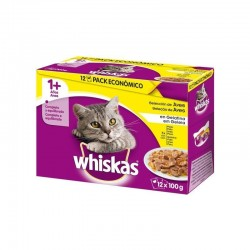 Whiskas 12Pack 1+ Seleccion Aves 4X12X100Gr