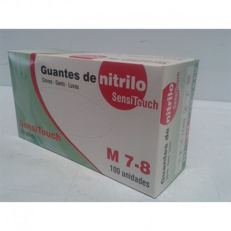 Guantes Nitrilo No Esteril Sensitouch SP M 100 Ud