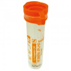 Tubo Vacio Heparina-Li 1,3Ml 100Ud Naranja