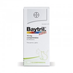 Baytril Sabor 15 Mg 10 Comp.