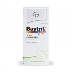 Baytril Sabor 15 Mg 10 Comp