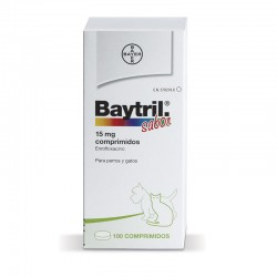 Baytril Sabor 15 Mg 100 Comp.