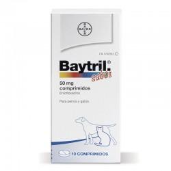 Baytril Sabor 50 Mg 10 Comp