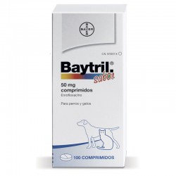 Baytril Sabor 50 Mg 100 Comp