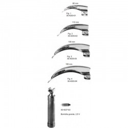 Laringoscopio Set Mcintosh Palas 1-4 Vetmat