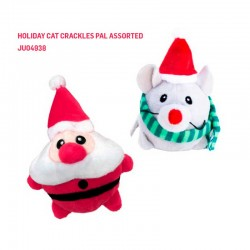 H20C151 KONG Holiday Cat Crackles Pal Assorted
