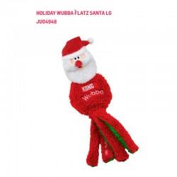 H20D128 Kong Holiday Wubba Flatz Santa LG