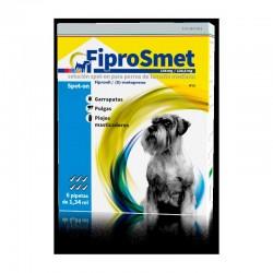 FiproSmet 134Mg/120,6Mg Perro M 6 Pip Azul