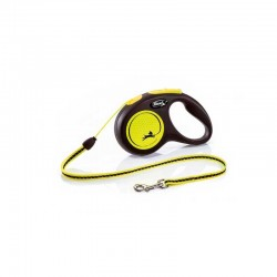 Correa Flexi Neon Reflect M Cord 5M Amarillo12Kg