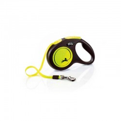 Correa Flexi Neon Reflect XS Cin 3M Amarillo 12Kg