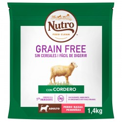 Nutro GF Perro Adulto Pequeño Cordero 4X1,4Kg