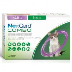 Nexgard Combo Gatos 3X0,3Ml 2,5Kg S Violeta