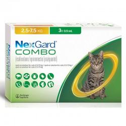 Nexgard Combo Gatos 3X0,9Ml 2,5-7,5Kg L Amarillo