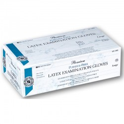 Guantes Latex Premium S/Polvo XL 100Ud HS