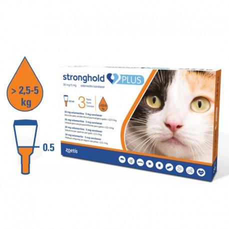 Stronghold Plus 3Pip Gato 2,5-5Kg Naranja