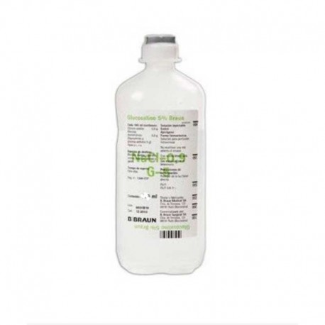 Glucosalino 5% Braun 500Ml 10Ud