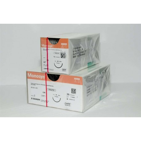 Monosyn Violet 2/0 Ds24 - 70Cm 12Uds