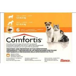 Comfortis 425Mg 6 Comp Naranja 6,1Kg a 9,4Kg