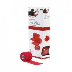 Venda Kruuse Vet-Flex 5Cm X 4,5M Rojo