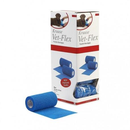Venda Kruuse Vet-Flex 10Cm X 4,5M Azul