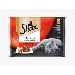 Sheba Selezione Salsa Carne 4X85Gr Ba33w