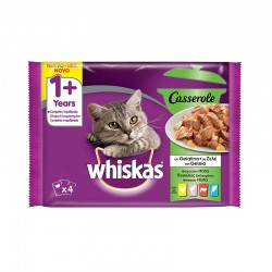 Whiskas 4Pack Casserole 1+ Selec. Mixta 13X34X85Gr