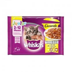 Whiskas 4Pack Casserole Junior Aves 13X4X85Gr BS18