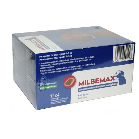 Milbemax 125/12,5Mg Perro Gde 96 Comp Masticable