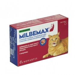 Milbemax 40/16 Mg Gato Gde Sabor 2 Comp