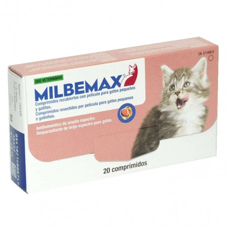 Milbemax 10/4 Mg Gato Peq Sabor 20 Comp