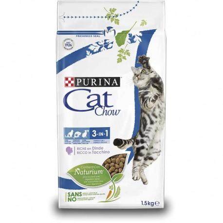 Cat Chow Feline 3en1 Pavo 15Kg