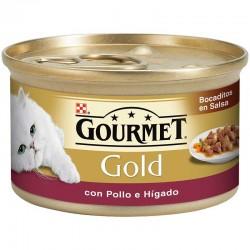Gourmet Gold Bocadi Salsa con Pollo Higado 24X85Gr