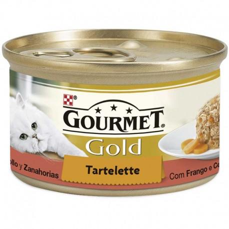 Gourmet Gold Tartallette Pollo Zanahoria 24X85Gr