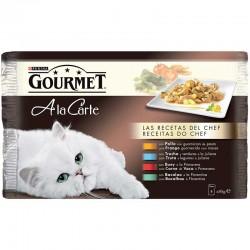 Gourmet Cart Pllo,Trucha,Buey,Bacalao Mpack 4x85g