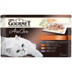 Gourmet Cart Pes.Oce.Pavo,Salm.Pato Mpack 4x85g