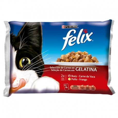Felix Seleccion De Carnes En Gelatina 12X100Gr