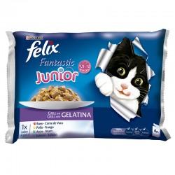 Felix Fantastic Junior Grill Gelatina 4x100g