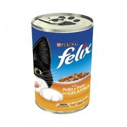 Felix Rac.Mult Trozos Gelatina Pollo/Pato 24x400g