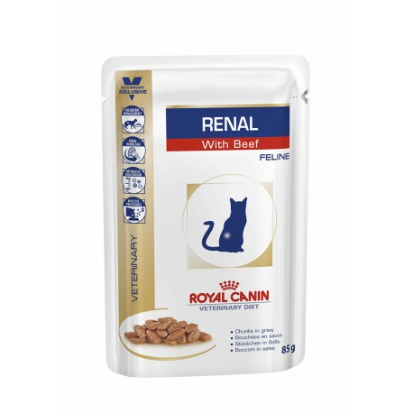 Vd Renal Cat Beef Pouch 85Gr X 12Ud