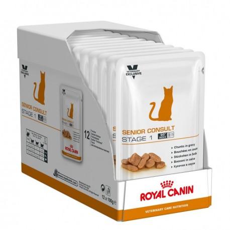 Vcn Senior Cat Stage 1 Pouch 100Gr X 12Ud