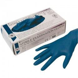 Guantes Nitrilo Sin Polvo Azul M 100Ud